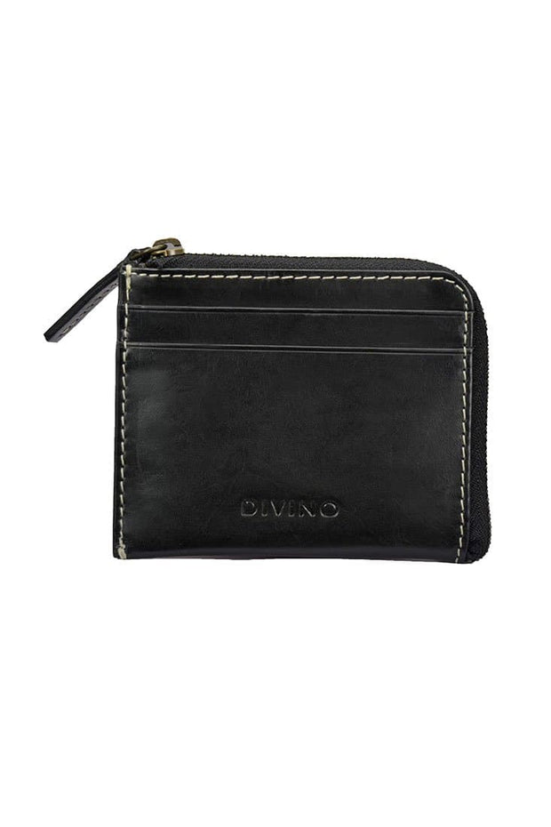 Juno - Zipper Wallet - Midnight Black - Divino Leather Goods