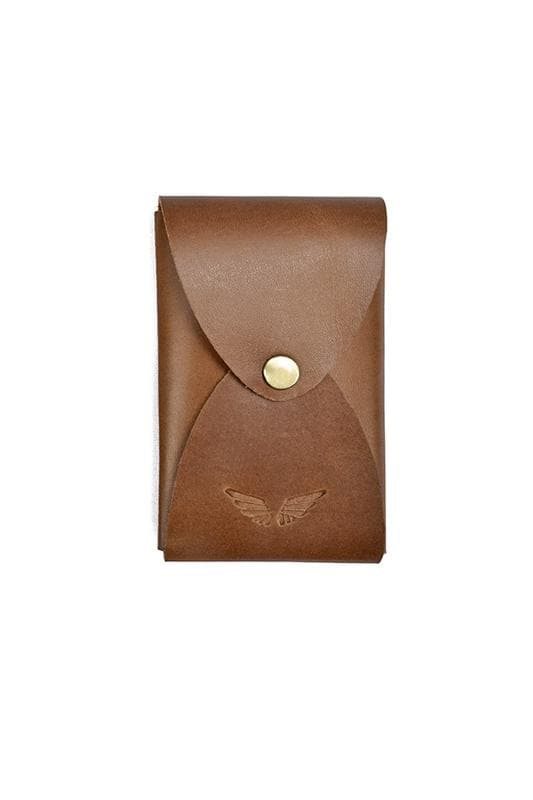 Ace - Leather Card Holder - Tan - Divino Leather Goods