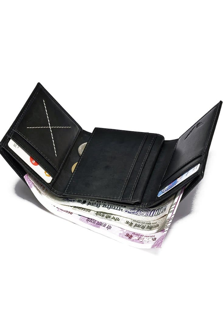 Dexter - Leather Wallet - Midnight Black - Divino Leather Goods