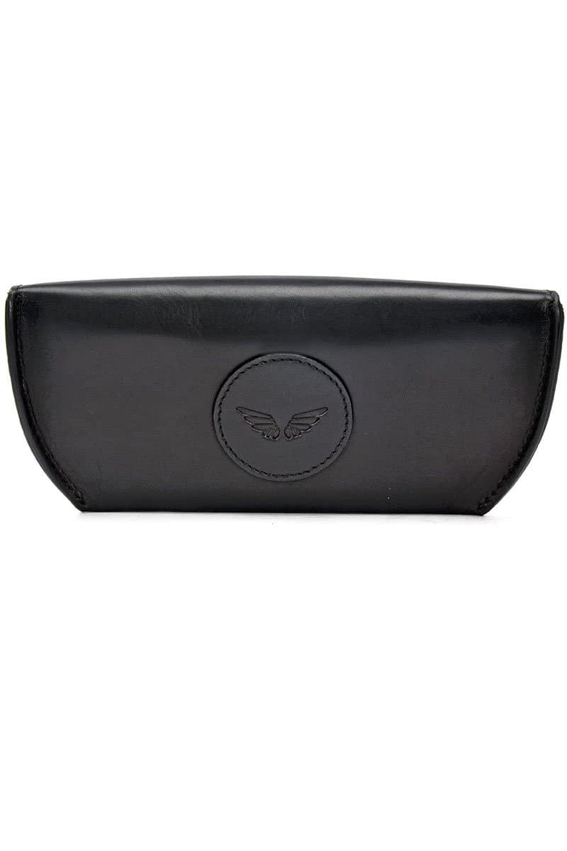 Leather Eye-wear Case - Midnight Black - Divino Leather Goods