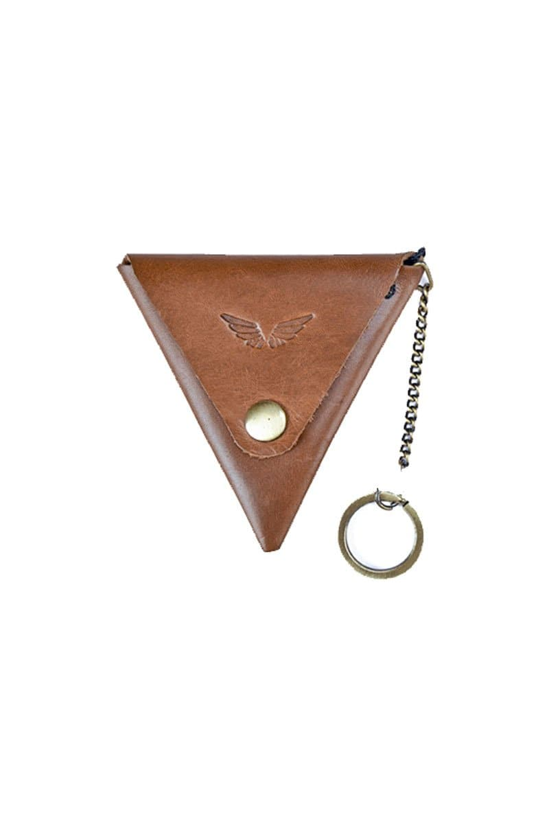 Prisma - Keychain & Coin Pouch - Tan - Divino Leather Goods