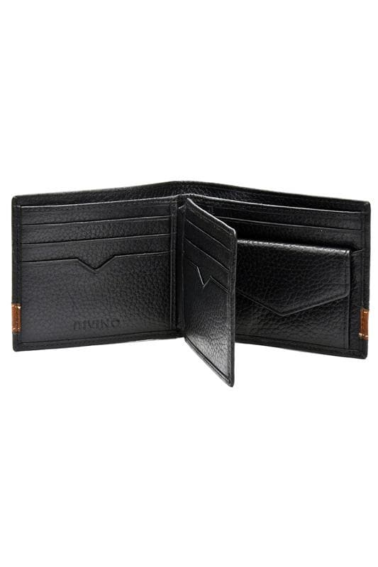 Enzo - Bifold Leather wallet - Black - Divino Leather Goods