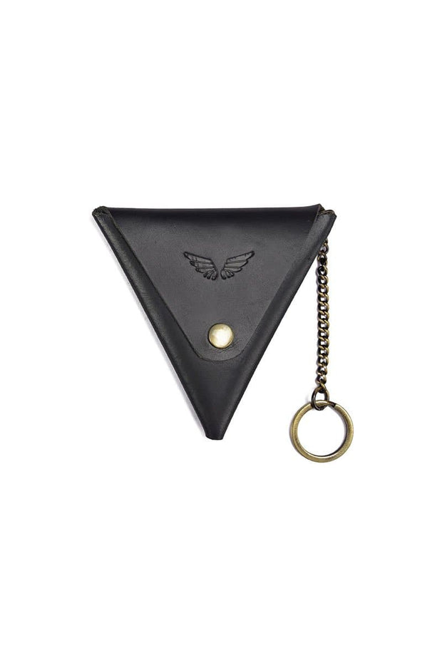 Prisma - Keychain & Coin Pouch - Midnight Black - Divino Leather Goods