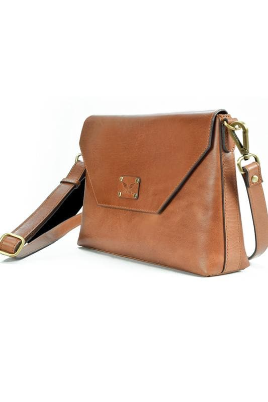 Envelope - Leather Sling bag - Tan - Divino Leather Goods