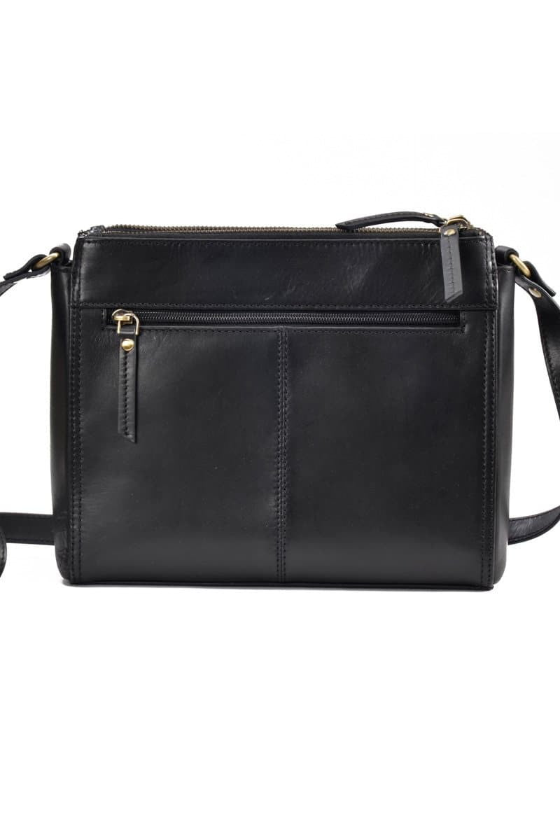 Ada - Leather Sling Bag - Midnight Black - Divino Leather Goods