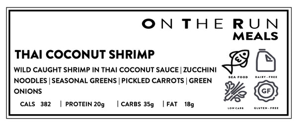 Thai Coconut Shrimp Low Carb