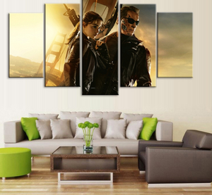 5 Pieces Abstract Movie Terminator Canvas - Urban Street Canvas