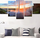5 Pcs Waterfall For Living Room Decor Canvas - Urban Street Canvas