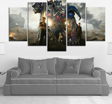 5 Pieces Abstract Movie Transformers Optimus Prime Canvas - Urban Street Canvas