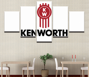 5 Panel Kenworth Logo Canvas - Urban Street Canvas