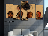 3 Sizes 5 Panels Ice Cube Snoop Dogg Dr Dre Eminem Canvas - Urban Street Canvas