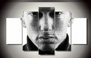 Eminem Rap God 5 piece Canvas - Urban Street Canvas