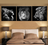 3 Panels Lion king Canvas - Urban Street Canvas