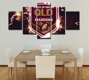 QLD Sports Fans Team Logo Canvas - Urban Street Canvas