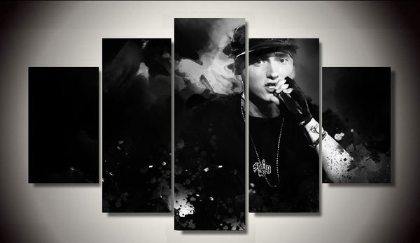 5 panel Eminem Rap God Canvas - Urban Street Canvas