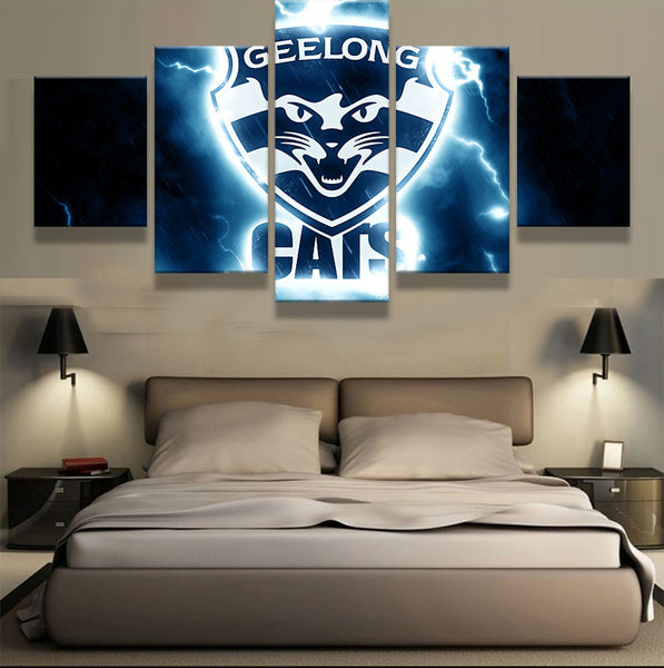 AFL 5 Pieces Sports Team Cats Canvas - Urban Street Canvas