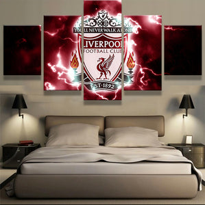 EPL 5 Pieces Liverpool Canvas - Urban Street Canvas