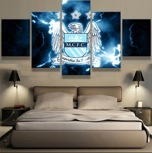 EPL 5 Pieces Sports Team Canvas - Urban Street Canvas