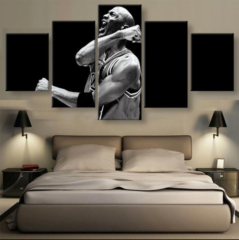 5 Panel Michael Jordan Basketball HD Canvas Art - Urban Street Canvas