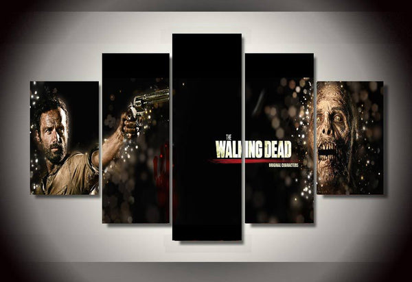 5 Panel The Walking Dead Movie Painting Canvas - Urban Street Canvas