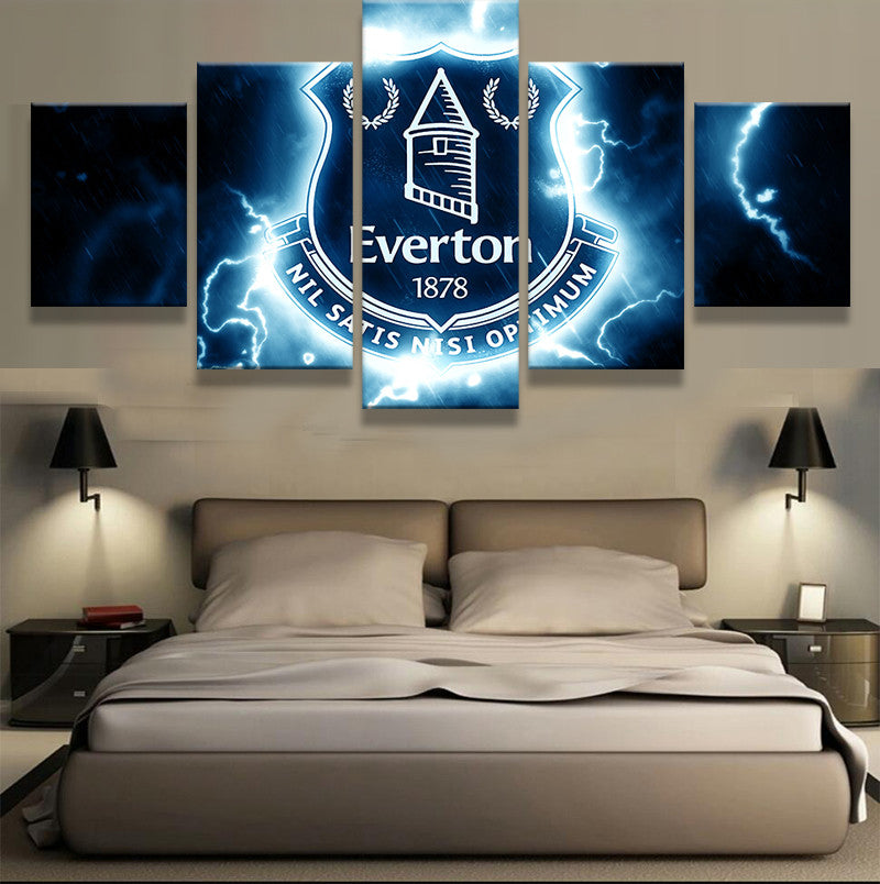 EPL 5 Pieces Everton Football Canvas - Urban Street Canvas