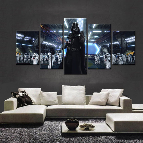 5 Pcs Star Wars Black Knight Darth Vader Canvas - Urban Street Canvas