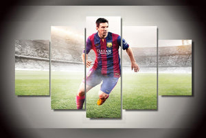 5 Pieces Argentina Footballers Lionel Messi on Canvas - Urban Street Canvas