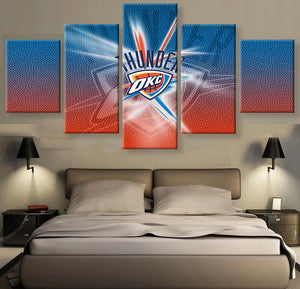 5 Pieces Thunder OKC Canvas - Urban Street Canvas