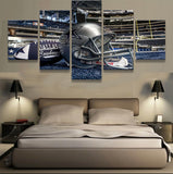 5 Pcs Dallas Cowboys Sports Team Canvas - Urban Street Canvas
