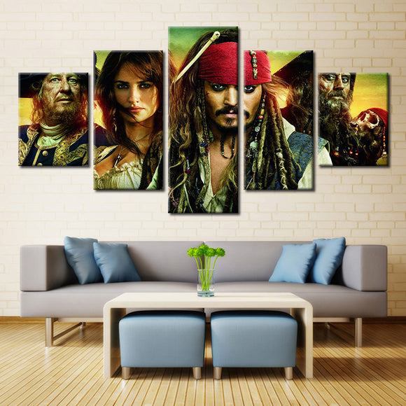 5 Pieces Movie Pirates Of The Caribbean Canvas - Urban Street Canvas