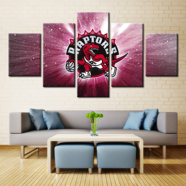 5 Panel Toronto Raptors Sports Canvas - Urban Street Canvas