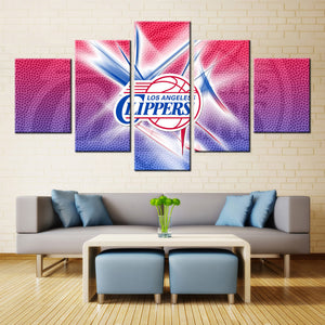 5 Pieces Los Angeles Clippers Canvas - Urban Street Canvas
