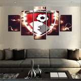 EPL 5 Panels	AFC Bournemouth Canvas - Urban Street Canvas