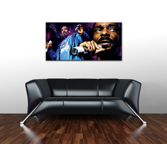 SNOOP DOGG Hip Hop Rap 40 inches OIL Painting UNFRAMED - Urban Street Canvas