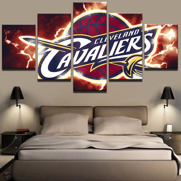 5 Pieces NBA Cavaliers Sports Team Canvas - Urban Street Canvas