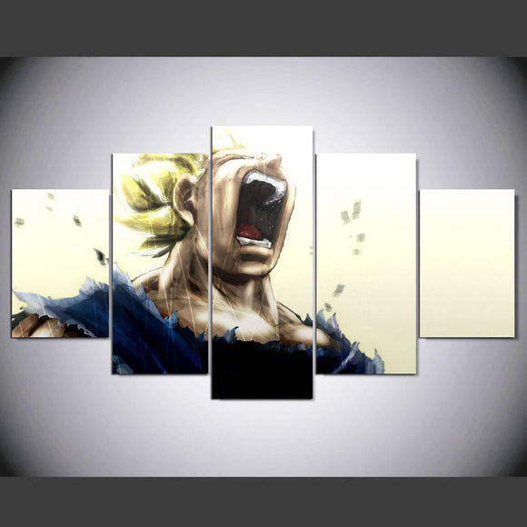 5 piece dragon ball super canvas - Urban Street Canvas