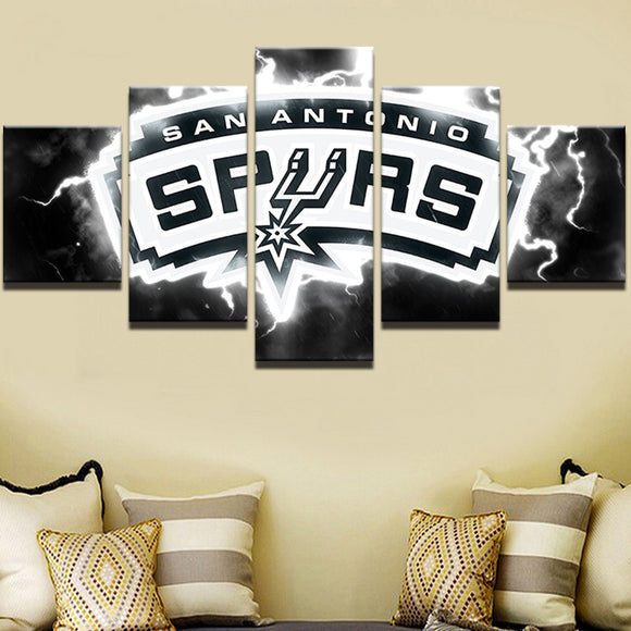 5 Piece NBA Spurs Sports Canvas - Urban Street Canvas