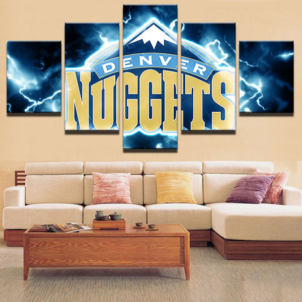 5 Panel NBA Denver Nuggets Sports Canvas - Urban Street Canvas