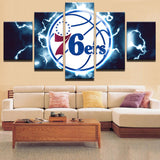 5 Pieces NBA 76ers Sports Team Canvas - Urban Street Canvas