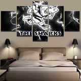 5 Panel Rugby The Sharks Sports Canvas - Urban Street Canvas