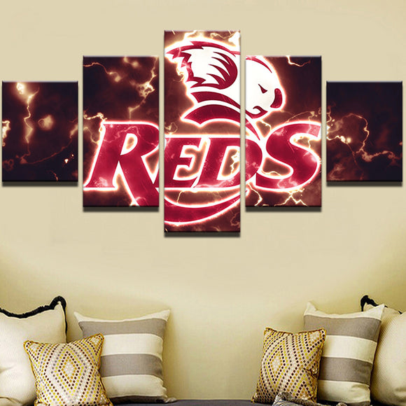 Rugby Reds Sports Team Canvas HD - Urban Street Canvas