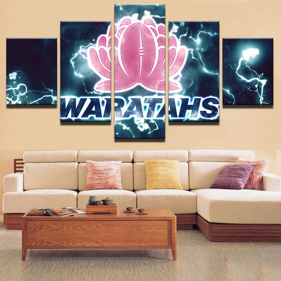 5 Panel Waratahs Sports Team Canvas - Urban Street Canvas