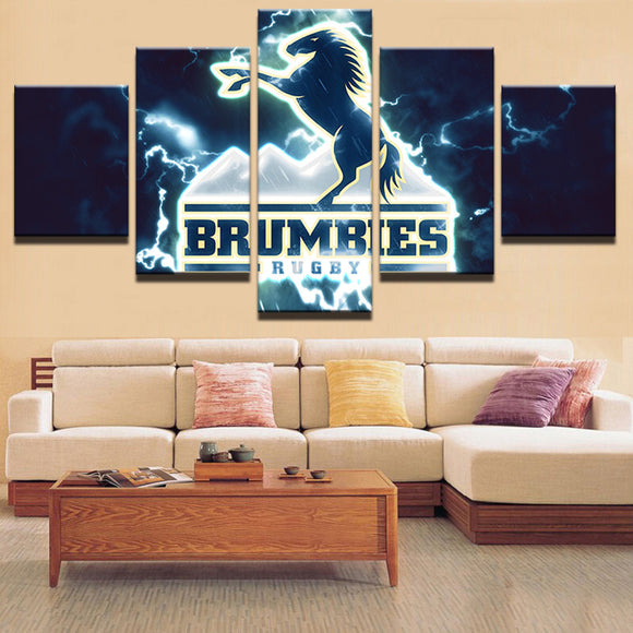 5 Panel Brumbies Sports Canvas - Urban Street Canvas