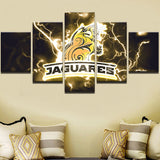 5 Panels Sports Team Jaguares Canvas - Urban Street Canvas