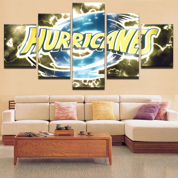5 Panel Hurricanes Modern Sports Canvas