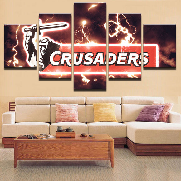 5 Panel Crusaders Rugby Canvas - Urban Street Canvas