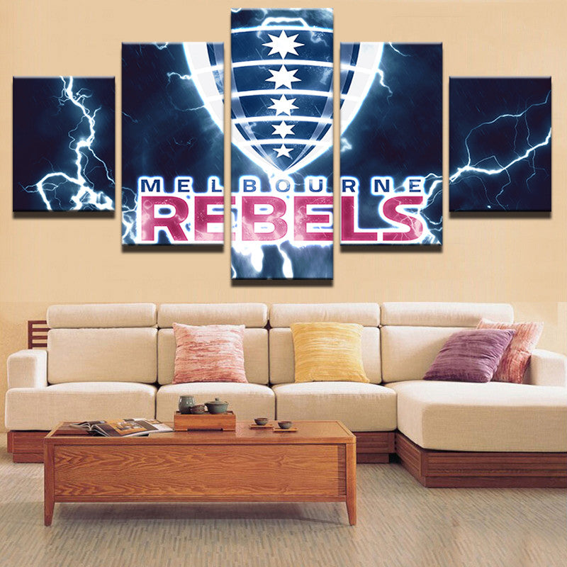 Rugby Rebels Wall Art HD Printed Canvas - Urban Street Canvas