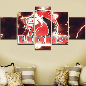 Rugby Lions Modern Sports Canvas - Urban Street Canvas