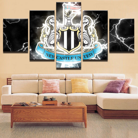 EPL 5 Pieces Sports Newcastle United Canvas