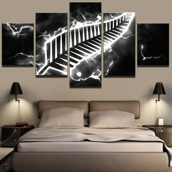 5 Pieces New Zealand Sports Canvas - Urban Street Canvas